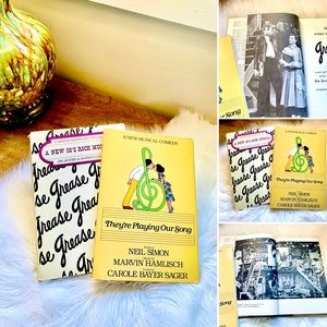 🦋2/$10 3/$15 4/$18 5/$20 Vintage Grease/Neil Simon Musical Play Books